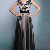 Grecian Black Long Formal Prom Dress With Light Pink Lining | DQ831247