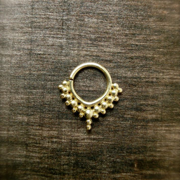 Tribal Septum Nosering Brass