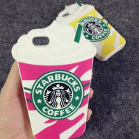 Starbucks 3D Silicone Coffee Cup Phone Case Cover For iPhone 6/6s Plus