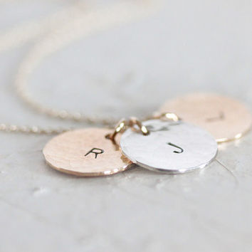 Mothers Necklace / Initial Necklace / Mothers Jewelry / Gift for Mom / Initial Jewelry / Initial Charm / Personalized Necklace