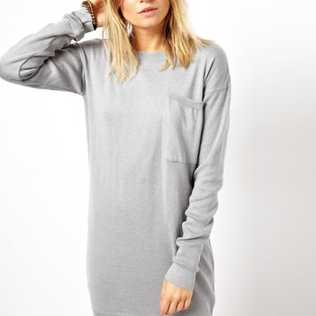 ASOS Jumper Dress With Oversize Pocket