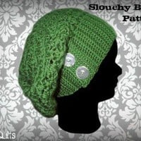 Slouchy Beret Crochet Pattern | Los Angeles Needlework