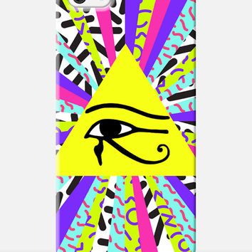 EGYPTIAN iphone case, 90s iphone case, eye of horus phone case, colourful iphone 6 case, new case for iphone 6, 90s pattern iphone case