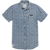 Lira Tri Zigs Short Sleeve Woven Shirt - Mens Shirts - Blue