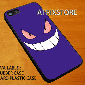 gengar ghost pokemon,Accessories,Case,Cell Phone,iPhone 5/5S/5C,iPhone 4/4S,Samsung Galaxy S3,Samsung Galaxy S4,Rubber,08-07-7-Ig