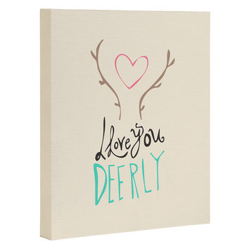 Allyson Johnson Love you deerly Art Canvas