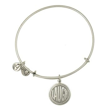 Alex and Ani Laugh Charm Bangle - Russian Silver