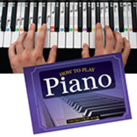 How to Play Piano Book, Flashcards and Keyboard Clings