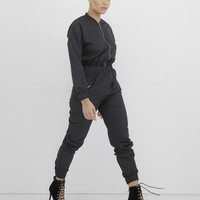 SPECIAL FORCES CARGO JUMPSUIT - BLACK