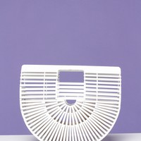 Half Moon Picnic Handbag - White
