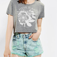 Urban Outfitters - Truly Madly Deeply Stencil Floral Cropped Tee
