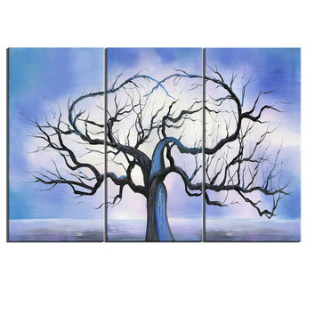 Blue Forest Glow Canvas Wall Art Print