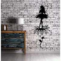 Magic Sexy Fairy Lady Flower Decor Wall Decor Mural Vinyl Decal Art Sticker Unique Gift M632