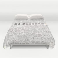 ed sheeran. Duvet Cover by CALM OCEANS™