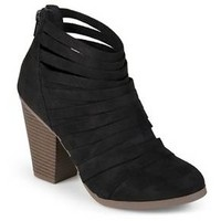 Journee Collection Women's Selena Faux Suede Strappy Ankle Booties