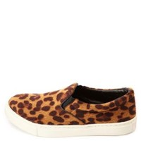 Cheetah Print Slip-On Sneakers by Charlotte Russe - Classic Leopard