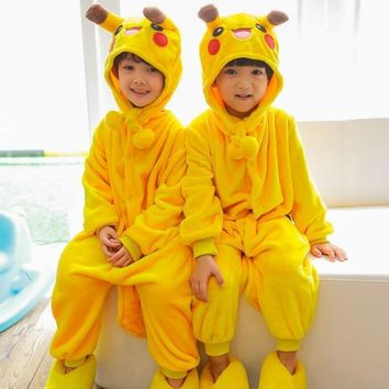 (Slippers not included) Children Jumpsuits Halloween Carnival New Year Cartoon Costume