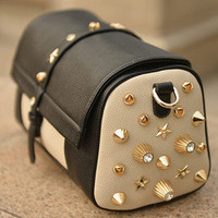 Rivet Bucket Shoulder bag Handbag