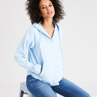 AE Military Popover Hoodie, Light Blue