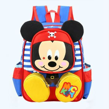 2017 Hot Sale Fashion Children School Bags MInnie Mickey Backpack Baby Toddler Kids Book Bag Kindergarten Boy Backpacking B156