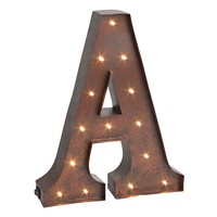 ''a'' LED Letter Wall Decor (Brown)