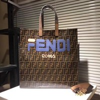 Fendi Women's Tote Bag, Black Cigar
