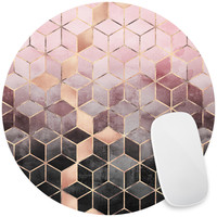 Pink Grey Gradient Cubes Mouse Pad Decal