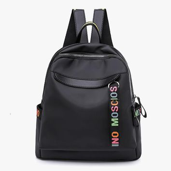 Cool Backpack school Fashion Women Backpack Personality Nylon Backpacks for Teenage Girls Casual Large Capacity Cool fashion Shoulder Bags Female AT_52_3