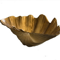 Antique Gold Clam Shell