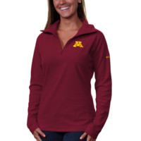 Columbia Minnesota Golden Gophers Womens Glacial Fleece Half Zip Sweatshirt - Maroon