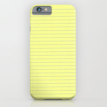 iPhone 6 Case - Yellow Legal Paper Case