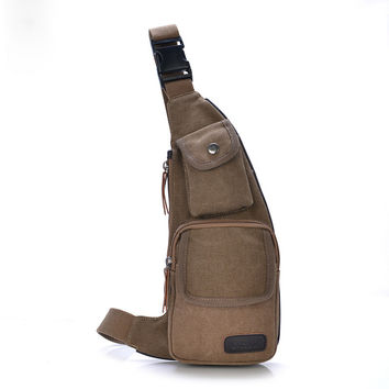 Men Canvas Stylish Casual Messenger Bags [10648212867]