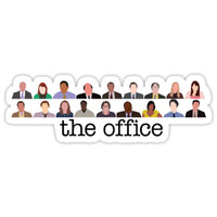 'The Office Characters' Sticker by Caro Owens Designs