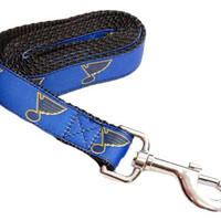 St Louis Blues Licensed Small 4 Foot Dog Leash