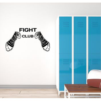 Vinyl Wall Decal Fight Club MMA Fighting Martial Arts Sports Interior Stickers Mural (ig5981)