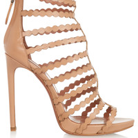 Alaïa - Laser-cut leather sandals
