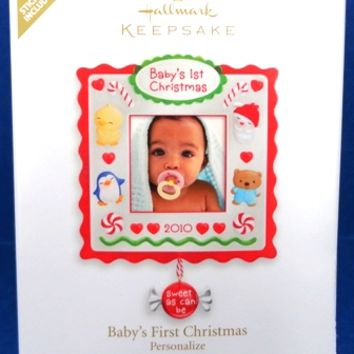 2010 Baby's First Christmas Hallmark Personalized Retired Ornament