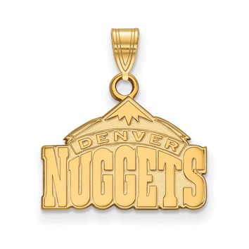NBA Denver Nuggets Small Logo Pendant in 10k Yellow Gold