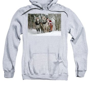 Santa Sleigh With Horses - Sweatshirt
