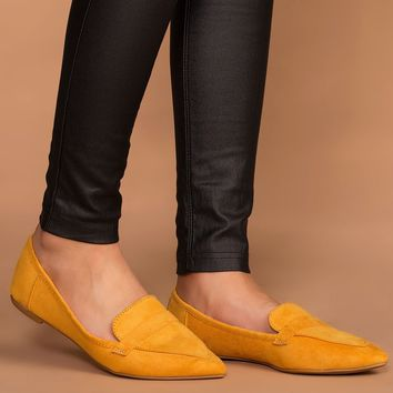 Amélie Pointed Loafers - Marigold