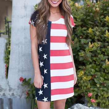 Stars And Stripes Flag Dress Adult