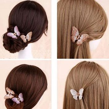 2017 New Fashion Women Girl Hair accessories Butterfly Hair Claw 81726ce51751