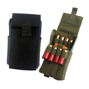 Hunting 25 Round 12GA 12 Gauge Ammo Shells Reload Magazine Storage Pouches Bag Bandolier Bullet Holder Tactical Airsoft Kit