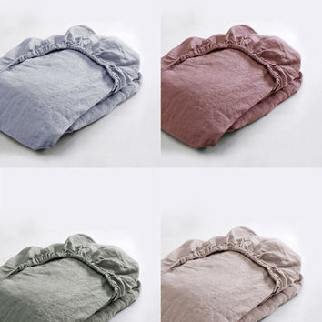 Washed Premium Linen Mattress Cover in 32 Assorted Colors
