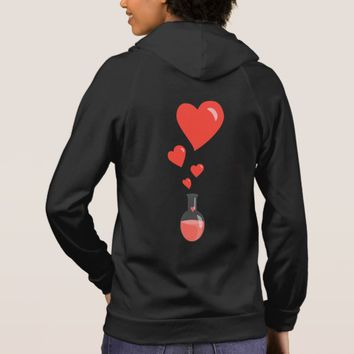 Love Potion With Hearts Chemistry Geek Hoodie