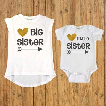 Matching Sibling Shirt, Sister Gift, big sister little sister outfits, Sibling Outfits, pregnancy announcement, two sisters