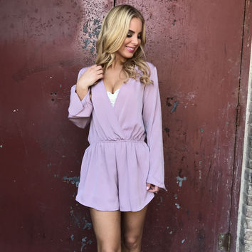 Picture Perfect Lilac Silky Romper