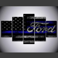 Ford American Flag Canvas