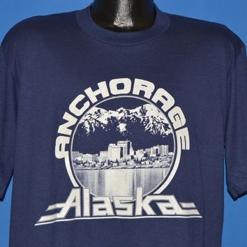 80s Anchorage Alaska Skyline Deadstock t-shirt Extra Large