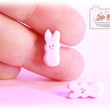 Pastel mini peeps stud earrings made by Giuliart - 1 couple -